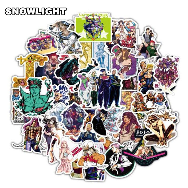 50Pcs/lot Anime JOJOS BIZARRE ADVENTURE Stickers Decal For Snowboard Laptop Luggage Car Fridge DIY Styling Vinyl Decor Sticker