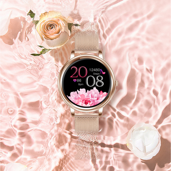 MK20 Smart Watch 2020 Full Touch Screen 39mm Diameter Women Smartwatch For Ladies And Girls Compatible With Android and IOS 5