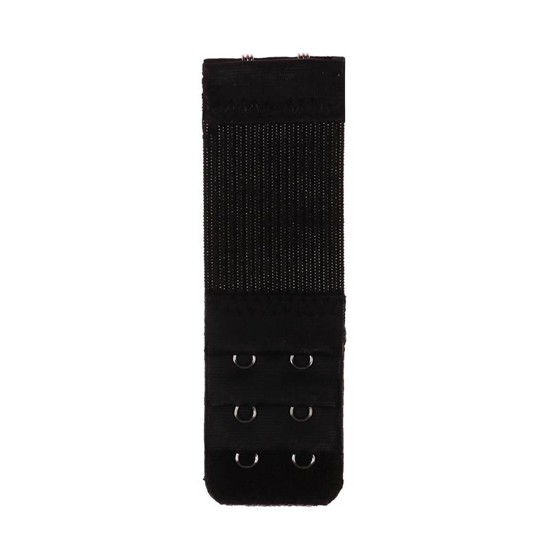 4 шт., 2 крючка, удлинитель для бюстгальтера для женщин, эластичный удлинитель для бюстгальтера, ремень на крючках, расширитель, Регулируемая пряжка для ремня, нижнее белье - Цвет: black
