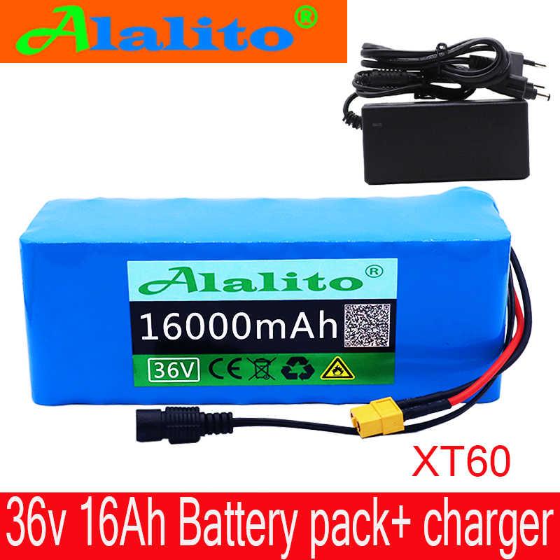 36V аккумулятор 500W 18650 литиевая батарея 36V 16AH с bms Электрический велосипед батарея с ПВХ чехол для электрического велосипеда + зарядное устройство
