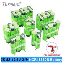 12.6v 16.8v 21v batteria 18650 Batteria 3400mAh 6800mAh ncr18650b per cacciavite shurik shura batteria 3s 4s 5s di Saldatura nuovo