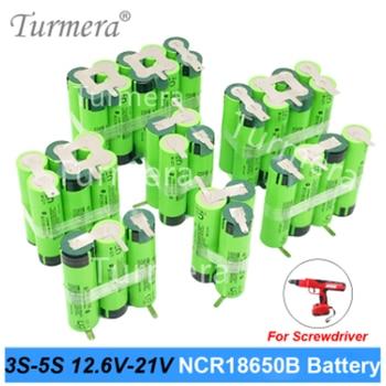 12.6v 16.8v 21v battery pack 18650 Battery 3400mAh 6800mAh ncr18650b for screwdriver shurik shura battery 3s 4s 5s Soldering new