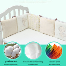 Bed-Bumper Baby Crib-Protector Bedding Nursery Infant Children 6pcs Cotton for Boy And