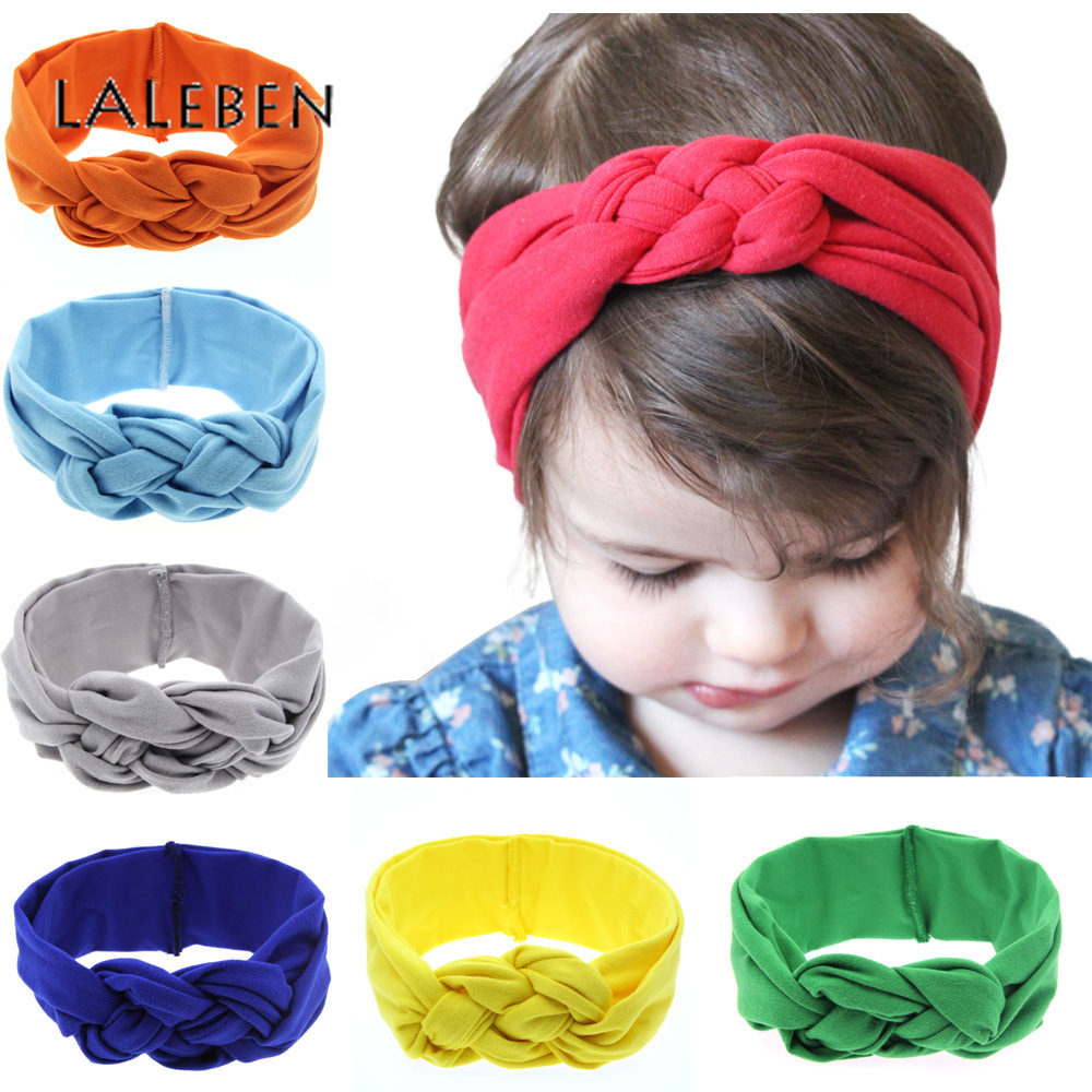 Laleben 2019 Baby Girl Headbands Solid Cotton Unisex Turban Baby Colorful Lovely Infant Hairband   Headwear   Baby Hair Accessories
