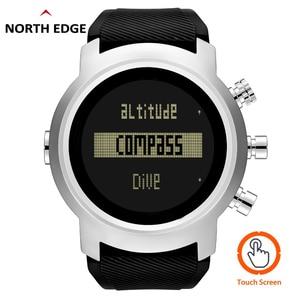 Image 2 - 2019 Nieuwe Mannen Duiken Horloge LED Digitale Militaire Horloge Waterdicht 50M Dive Zwemmen Sport Horloges Horloge Kompas Hoogtemeter