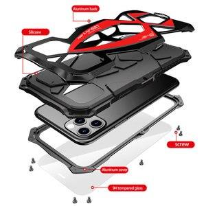Image 5 - Luphie Cassa Del Telefono Shockproof Per il iPhone 11 Pro Max di Grado Militare Goccia Testato Caso Coque Per iPhone X XS Max xr Alluminio Della Copertura