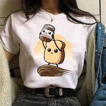 Женские рубашки с мультяшным принтом в стиле Харадзюку топы