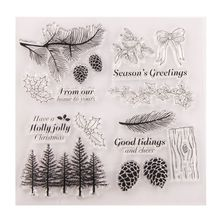 Tree Pinecone Silicone Clear Seal Stamp DIY Scrapbooking Embossing Photo Album