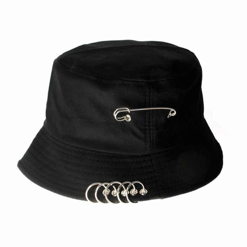 Brooch Ring Harajuku Bucket Hat Men Women Unisex K Pop Bob Outdoor Beach Sun Hat Fashion Panama Stylish Fishing Fisherman Cap