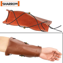 Archery Arm Guard Leather Forearm Straps Gear Protector for Traditonal Bow Hunting Shooting Accessories