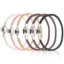 Xinyao, 12 цветов, 16-20 см, кожаный браслет для женщин, подходит для оригинала, бусины, сделай сам, фирменный дизайн, браслет, Прямая поставка