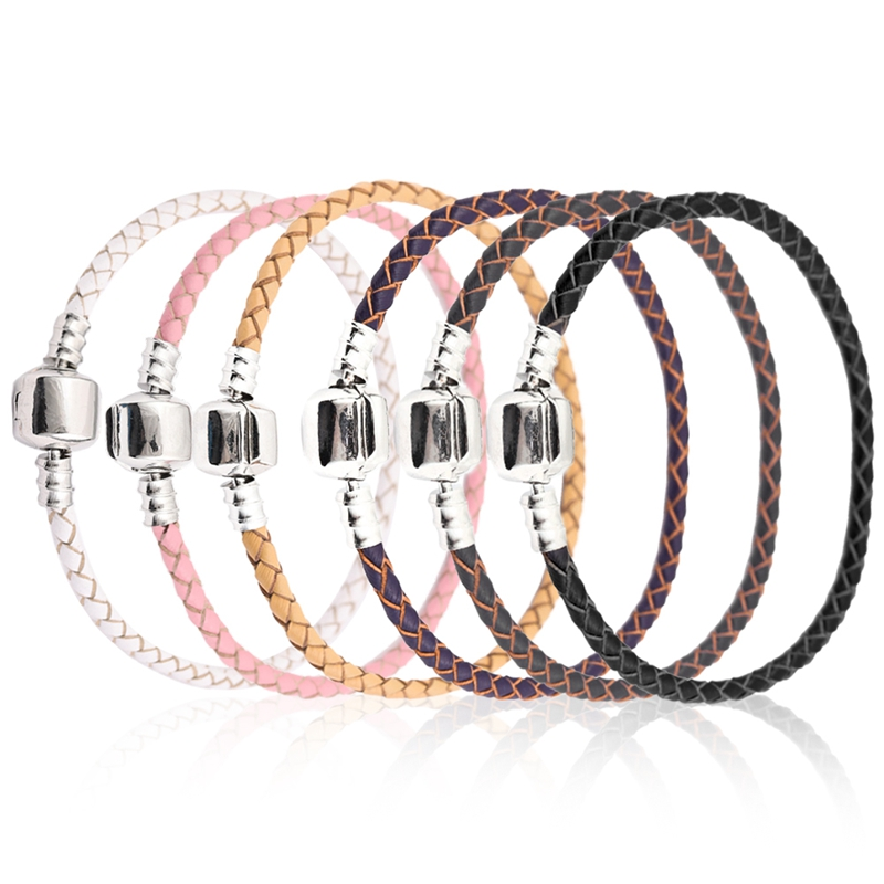 Xinyao 12 Colors 16-20cm Leather Charm Bracelet For Women Fit Original Charm Beads DIY Brand Design Bracelet Dropshipping