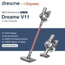 Dreame V11 ручной Беспроводной пылесос OLED Дисплей Портативный беспроводные 25kPa все в одном пылесборник развертки для ковров
