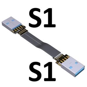 Image 3 - USB כבל סרט שטוח EMI מיגון FPC כבל מאריך USB 3.0 90 תואר מחבר עד וכלפי מטה 5cm 3m אורך התאמה אישית