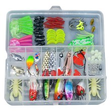 Fishing Lures Bait Kit Artificial 108Pcs Mixed Minnow/Popper Spinner Spoon Lure with Hook Isca Fish Lure Set Pesca(China)