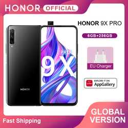 Глобальная версия смартфона Honor 9X Pro Kirin 810, 6 ГБ, 256 ГБ, 6,59 дюйма, полноразмерный экран, 48 МП, тройные задние камеры, мобильные телефоны, 4000 мАч
