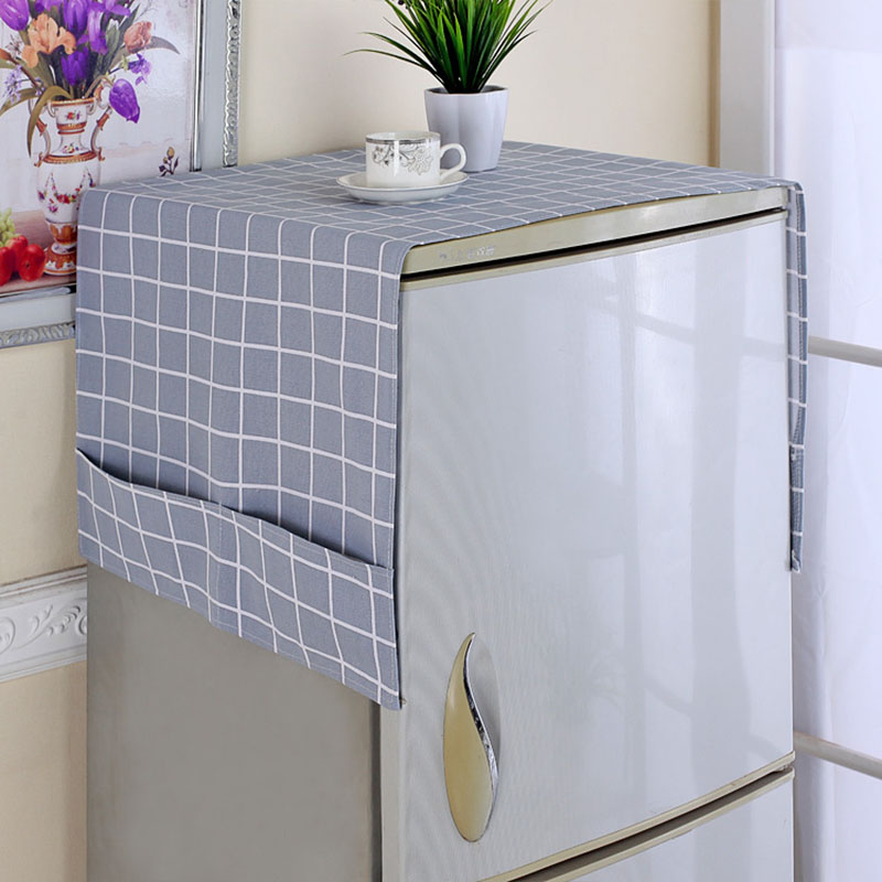 Dust Covers Washing Machine Covers Refrigerator Dust Cover With Pocket Storage Bag Dustproof Refrigerator Cover Dust Protection