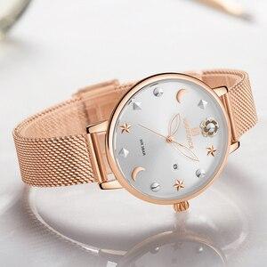 Image 3 - NAVIFORCE Women Watches Womens Fashion Clock Vintage Design Ladies Watch Luxury Brand Gold Metal Waterproof Relogio Feminino