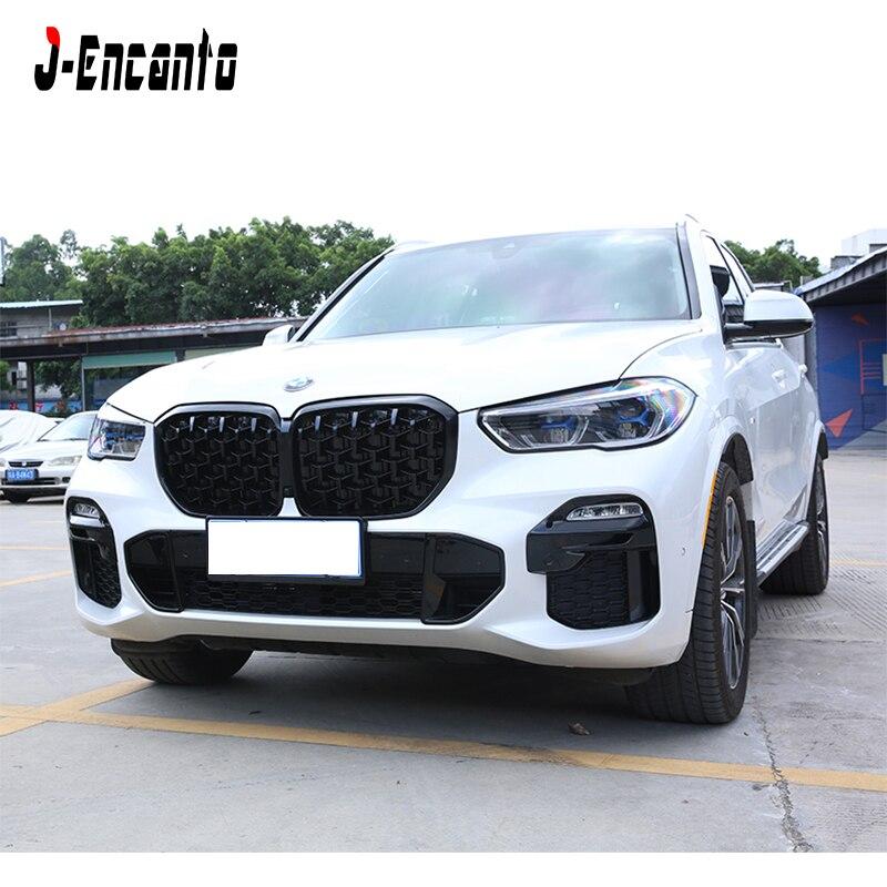 Пара новых ромбовидных фасонных решеток для BMW New X5 G05 Решетка переднего бампера Стайлинг автомобильной решетки 2019 - 3