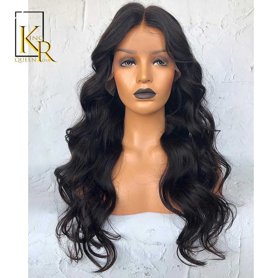 13x4 Body Wave Lace Front Human Hair Wigs For Black Women Remy Lace Wig Bleached Knots Plucked With Baby Hair King Rosa Queen