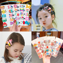 10 Pcs hairpin sets New girl cute cartoon bee bow flower and fruit hair Accessories Cute baby Exquisite side top clip Headgear