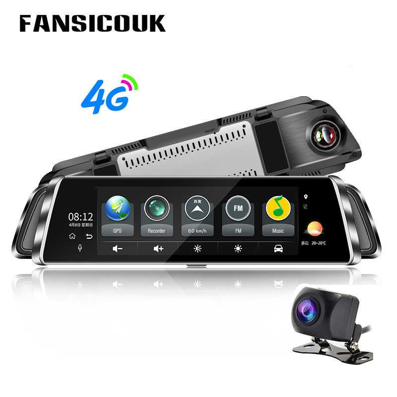 10 ''مرآة الرؤية الخلفية كاميرا 4G أندرويد داش كام HD 1080P واي فاي لتحديد المواقع ADAS سيارة بعدسة مزدوجة DVR مسجل فيديو السيارات المسجل G900