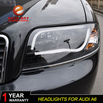 Car Styling Head Lamp Headlights case for Audi A6L Headlights 1999-2004 A6 Headlight DRL Lens Double Beam Bi-Xenon HID