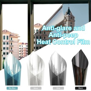 Mirror Window Film Daytime Privacy Static Non-Adhesive Decorative Heat Control Anti UV Window Tint For Home Office 50x100cm#YL5