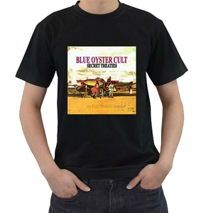 BOC BLUE OYSTER CULT -Secret Treaties Rock Band Mens Black T-Shirt Size S-3XL(China)