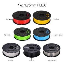 1 kg/carretel 1.75mm flexível material de impressão do filamento de tpu suprimentos branco, preto, transparente para canetas de desenho da impressora 3d