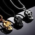 Модное мужское ожерелье CHUHAN в стиле панк с черепом Длинная цепочка из нержавеющей стали ожерелье для мужчин для мальчиков хип-хоп ювелирные...
