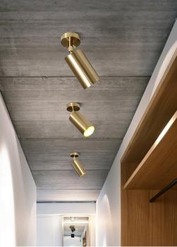 Gu10 ceiling lighting brass color ceiling lamp led ceiling light modern  indoor lighting led modern light