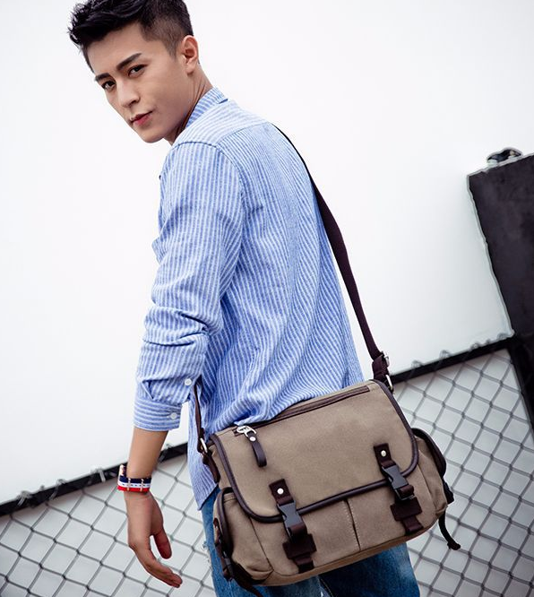 New Design Men Cloth Briefcase Durable All-match Shoulder Business Bag Students Waterproof College Bags Bolso Hombre DF321