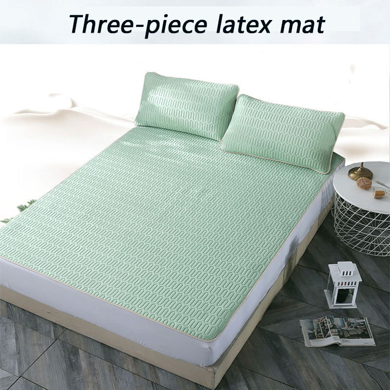 2020 Summer Tencel Washed Latex Mat Three-piece Washable Foldable Breathable Ice Silk Mat Soft Mat Bedroom Rest Indoor