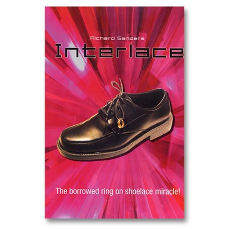 Interlace By <font><b>Richard</b></font> <font><b>Sanders</b></font> (DVD+Gimmick) Magic Tricks Ring Into Shoes Magic Trick For Professional Magicians image