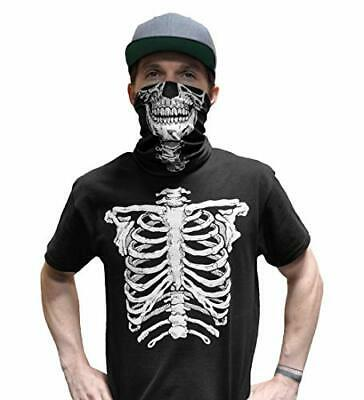 Glow In The Dark Skeleton T-Shirt With Skull Mask Halloween Costume For Men Vaporwave Discount