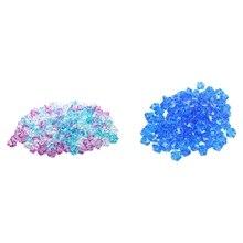 Промо-акция! 300 шт пластиковые необычные хрустальные Каменные Украшения для аквариума, 150 шт синие и 150 шт синие+ розовые+ белые