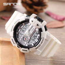 Sanda digitial военные водонепроницаемые спортивные часы для