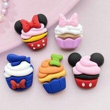 5/10Pcs Kawaii Cute Resin Mixed Cake Flat Back Cabochons Scrapbooking DIY Jewelry Craft Decoration Accessories F7