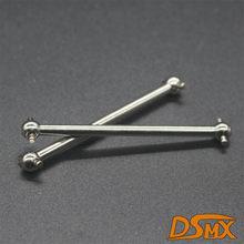 2 pces 1/10 rc carro 02003 prata dogbone 61mm peças de reposição himoto 3-4.5mm grosso para hsp 94123 94122 94123pro 94103 94102