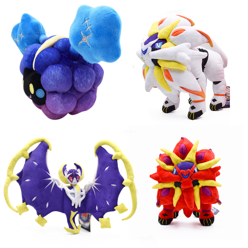 27-53cm 4 Styles Stuffed Plush Toy Cosmog Lunala Solgaleo White And Red Anime Figure Dolls Cotton Animal Doll For Children Gifts