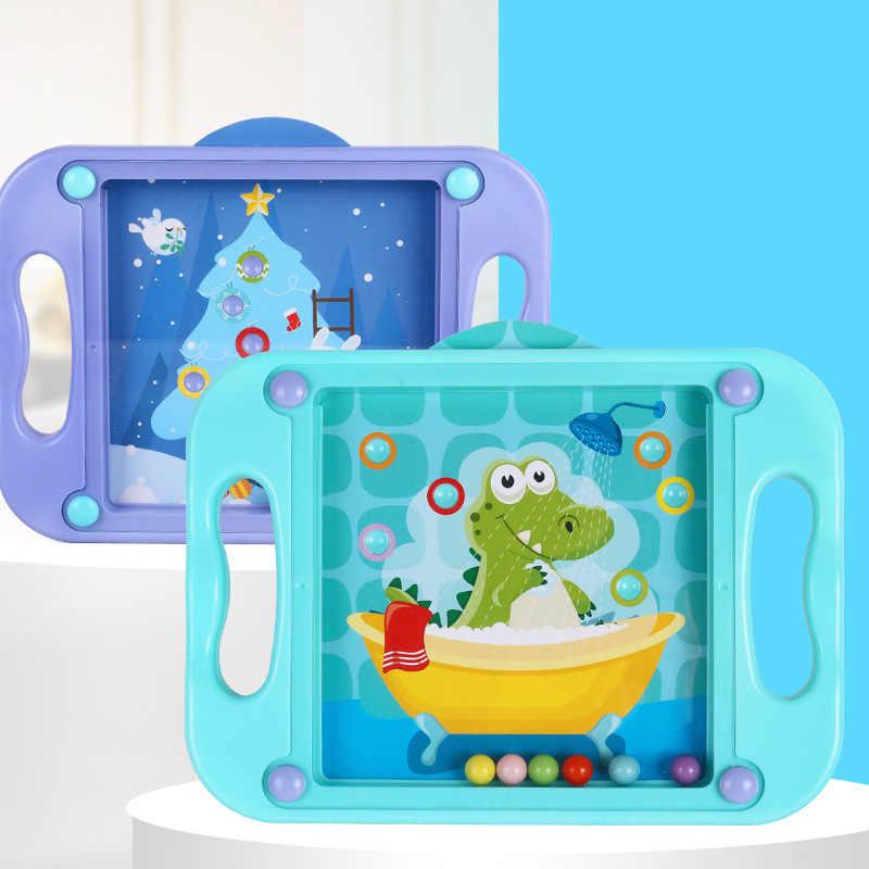 3D çocuklar çocuklar için eğitici oyuncaklar bebek bulmaca Montessori labirent denge oyunları oyuncaklar Toddlers 2-4 yıl Anime karikatür kartları