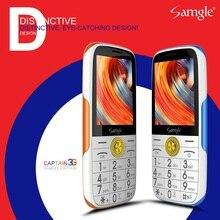 Samgle Bar 3g WCDMA телефон с функцией телефона Супер долгий режим ожидания большой дисплей клавиатура фонарь громкий динамик Whatsapp пожилых людей