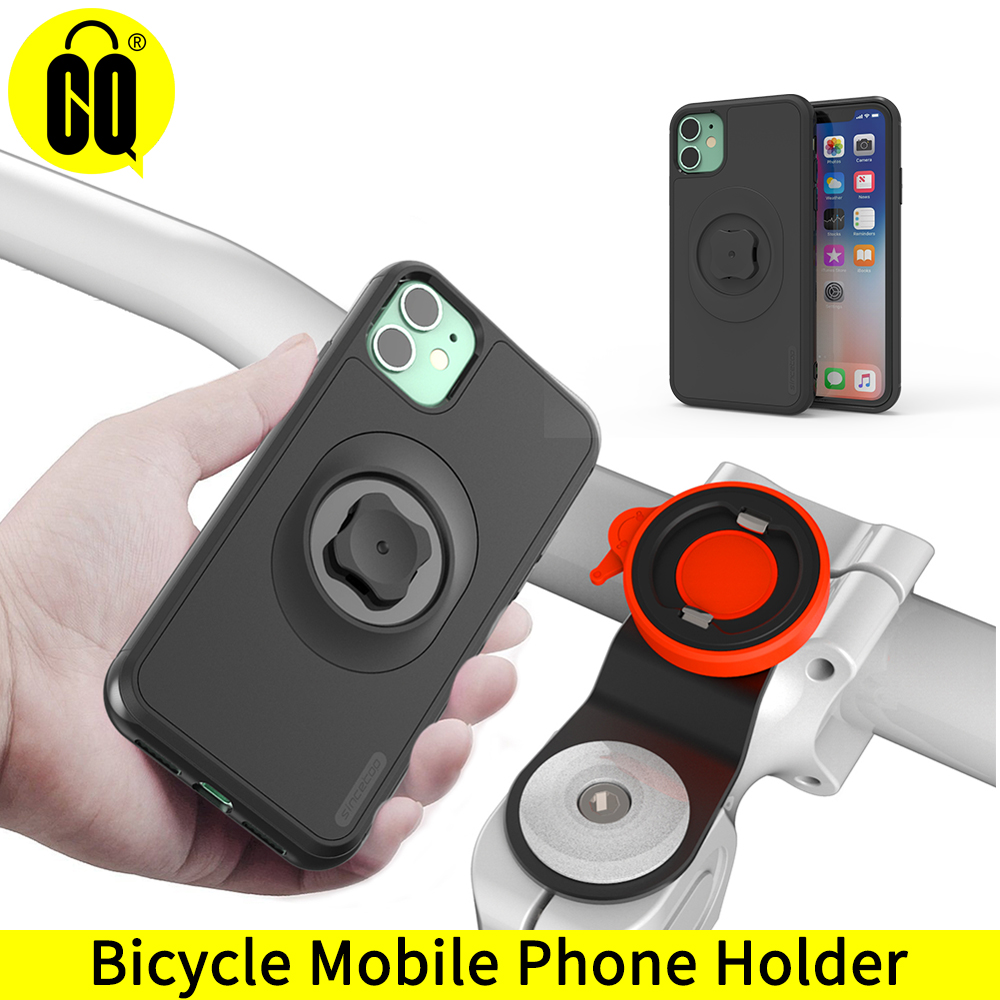 New Mountain Bike Phone Holder For IPhone 11 Pro XsMax 8plus 7s 6 Bicycle Handlebar Mount Cell Phone Stand With Shockproof Case