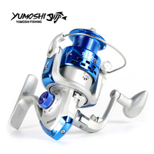 YUMOSHI Fishing Reel Carp Spinning Carbon Front and Rear Drags 18KG Max Drag 12BB Spool Sea Boat Wheels 2020 New