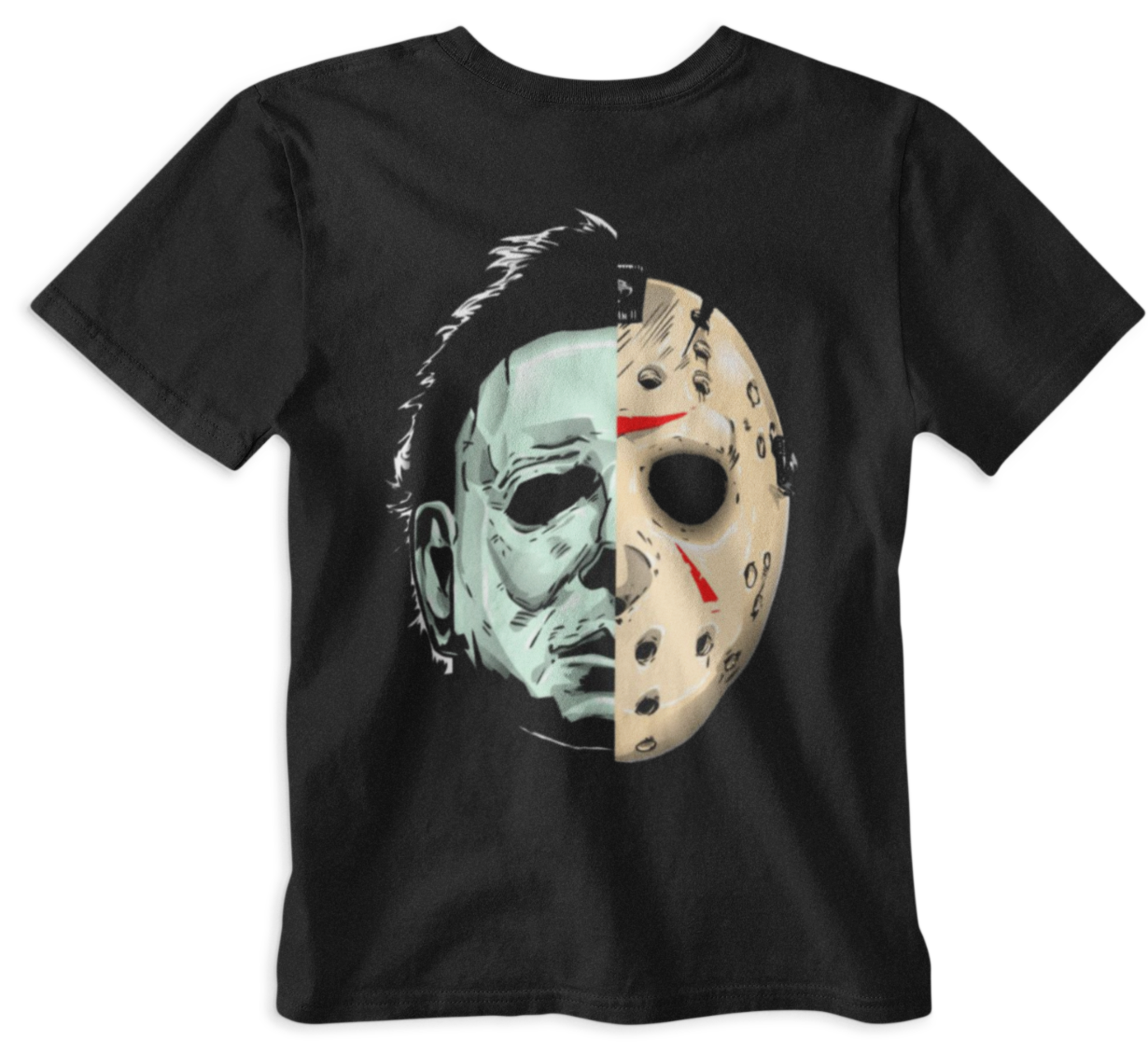 Halloween T-shirt Friday 13th Horror slasher Movie Face mask Film retro Tee gift image