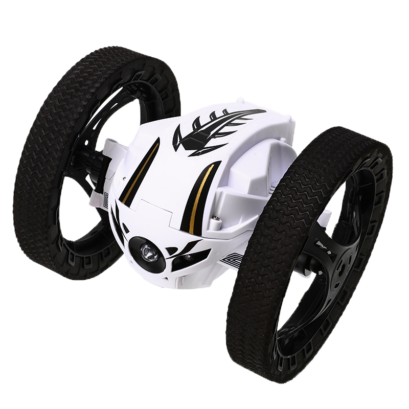RC Car Bounce Car Remote Control Toys RC Robot 70cm High Jumping Car LED Night Toys With Flexible Wheels Rotation Toys For Gifts