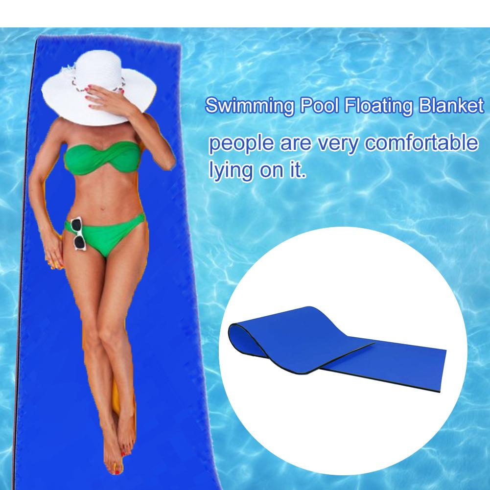 Floating Water Pad Mat Tear-resistant 2-layer XPE Roll-up Floating Island for Pool Lake Ocean