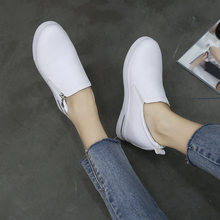 MXHY2019 spring and autumn and winter new versatile women's shoes in a pedal increase Female shoes platform heels womens shoes(China)