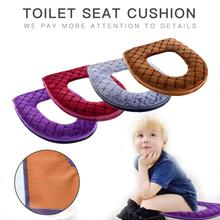 Bathroom Toilet Seat Cover Soft Warm Plush Toilet Cover Seat Lid Pad Home Decoration Toilet Seat Cover